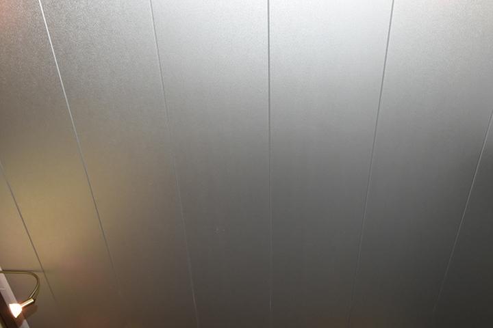 Panelenplafonds - Panelenplafond in aluminiumkleur