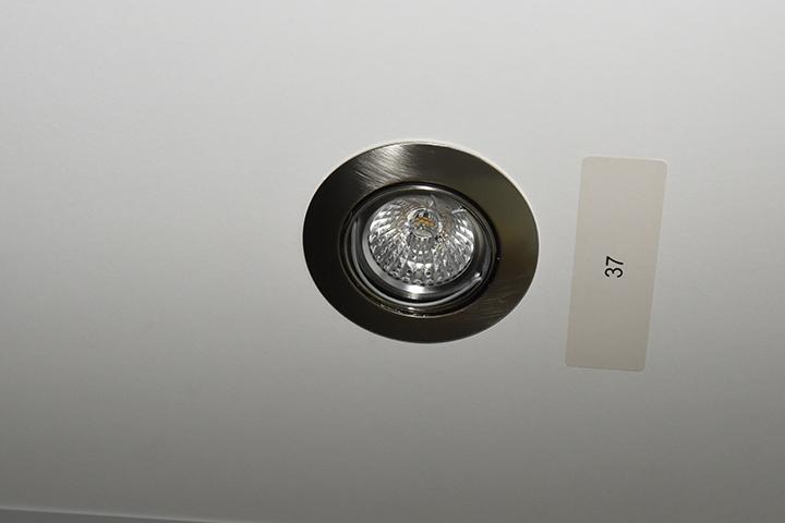 Spots - Vlak inbouw halogeen spot (geslepen aluminium)
