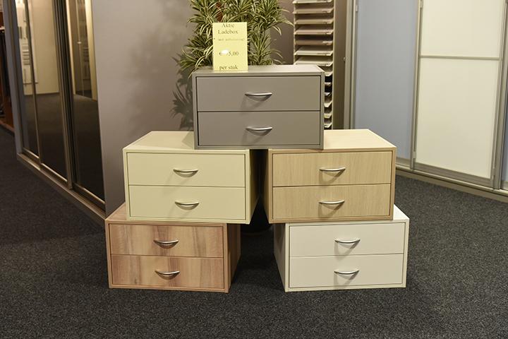 T & F Goirle - Ladeboxen - Lades in verschillende kleuren met Soft Close en aluminium grepen