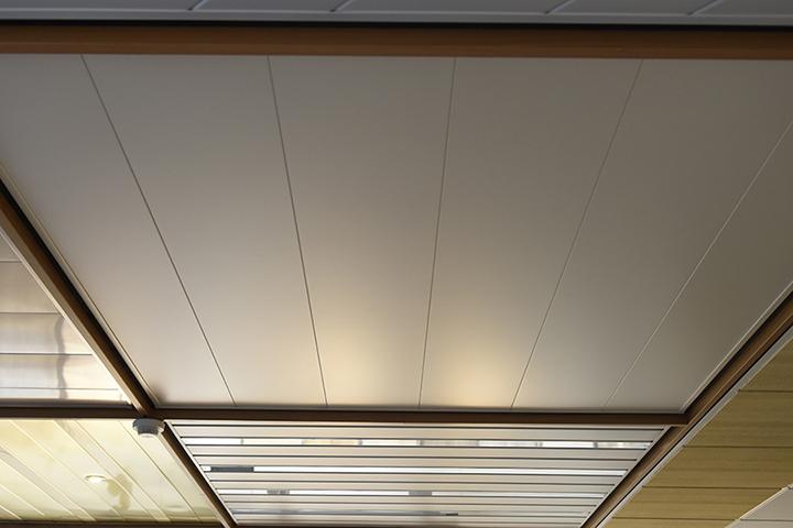 T & F Goirle - Luxalon lamellenplafond in de kleur mat gebroken wit